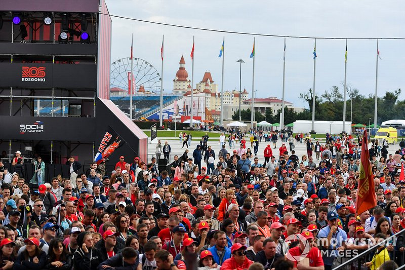 Fans attend the Thursday activities