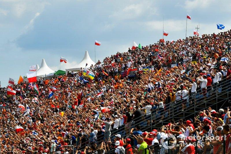 Huge crowd in a grandstand