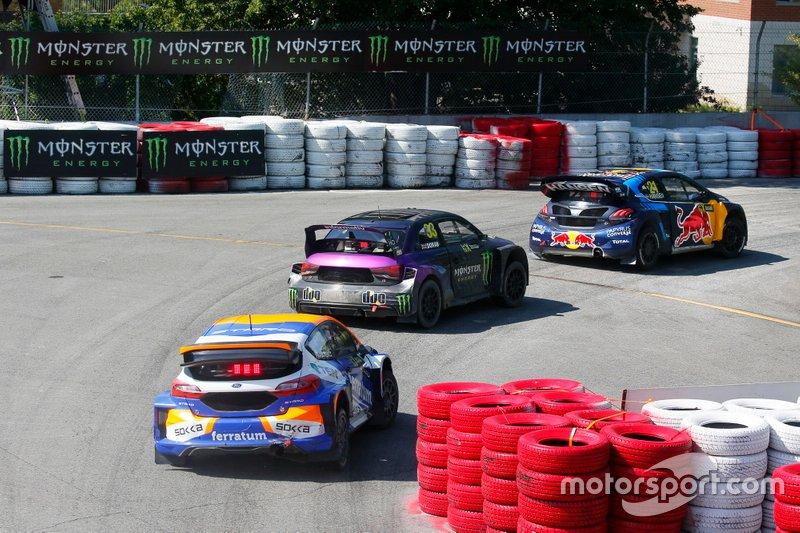 Тимми Хансен, Team Hansen MJP, Peugeot 208 WRX, и Лиам Доран, Monster Energy RX Cartel, Audi S1