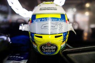 Lando Norris, McLaren, crash helmet