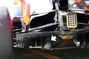 Red Bull Racing RB15 diffuser detail
