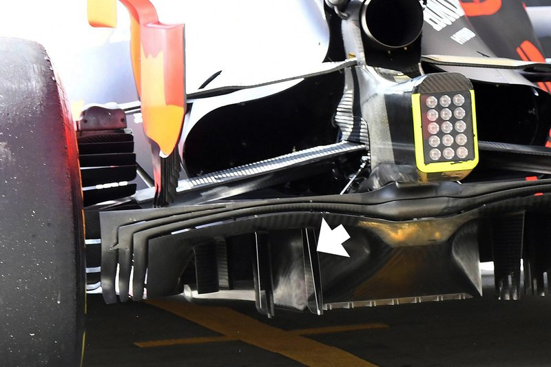 Red Bull Racing RB15 detalhe do difusor