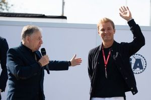 Jean Todt, President, FIA, en Nico Rosberg