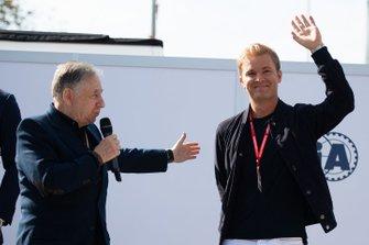 Jean Todt, Presidente de la FIA, y el ex campeón mundial Nico Rosberg