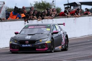Race winner Josh Cook, BTC Racing Honda Civic