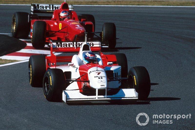 Mika Hakkinen, McLaren, al GP del Giappone del 1996