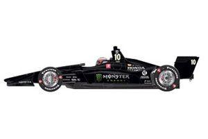 Felix Rosenqvist, livrea della Chip Ganassi Racing Honda