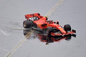 Charles Leclerc, Ferrari SF90, perd le contrôle de sa voiture
