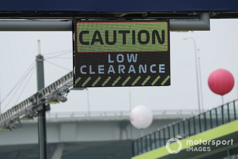 A Caution Low Clearance sign