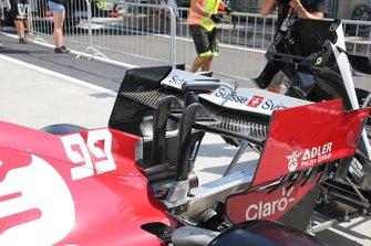 Alfa Romeo Racing C38, alerón trasero