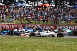 Takuma Sato, Rahal Letterman Lanigan Racing Honda, Santino Ferrucci, Dale Coyne Racing Honda