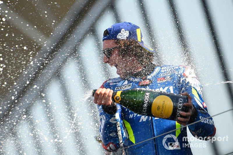 Podio: gandor Alex Rins, Team Suzuki MotoGP