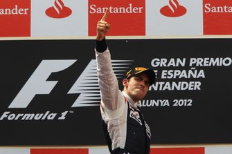 Podium: Race winner Pastor Maldonado, Williams