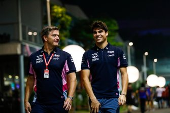 Andy Stevenson, Sporting Director, Racing Point, and Lance Stroll, Racing Point
