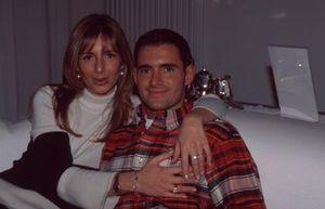 Gianni Morbidelli with his wife