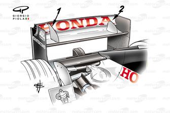 L'alettone posteriore della Bar Honda, BAR 006, GP di San Marino del 2004