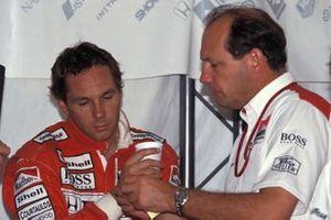 Герхард Бергер и руководитель McLaren Рон Деннис