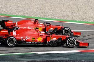 Sebastian Vettel, Ferrari SF1000, precede Charles Leclerc, Ferrari SF1000