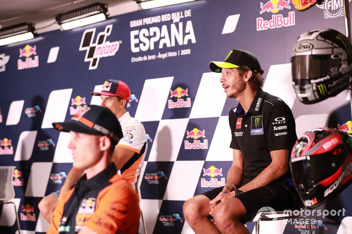 Valentino Rossi, Yamaha Factory Racing, en la conferencia de prensa