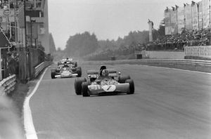 François Cevert, Tyrrell 002 Ford leads Carlos Pace, March 711 Ford
