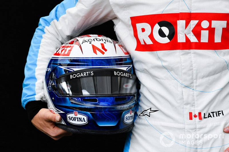 Nicholas Latifi, Williams Racing helmet