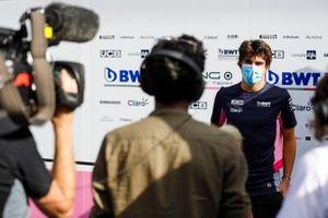 Lance Stroll, Racing Point parle aux médias