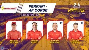 Line-up #71 Ferrari - AF Corse