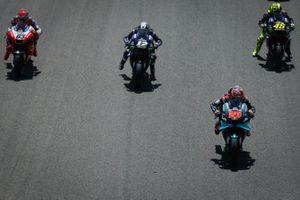 Maverick Vinales, Yamaha Factory Racing, Fabio Quartararo, Petronas Yamaha SRT, Valentino Rossi, Yamaha Factory Racing, Francesco Bagnaia, Pramac Racing