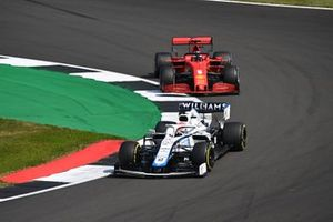 George Russell, Williams FW43, Sebastian Vettel, Ferrari SF1000