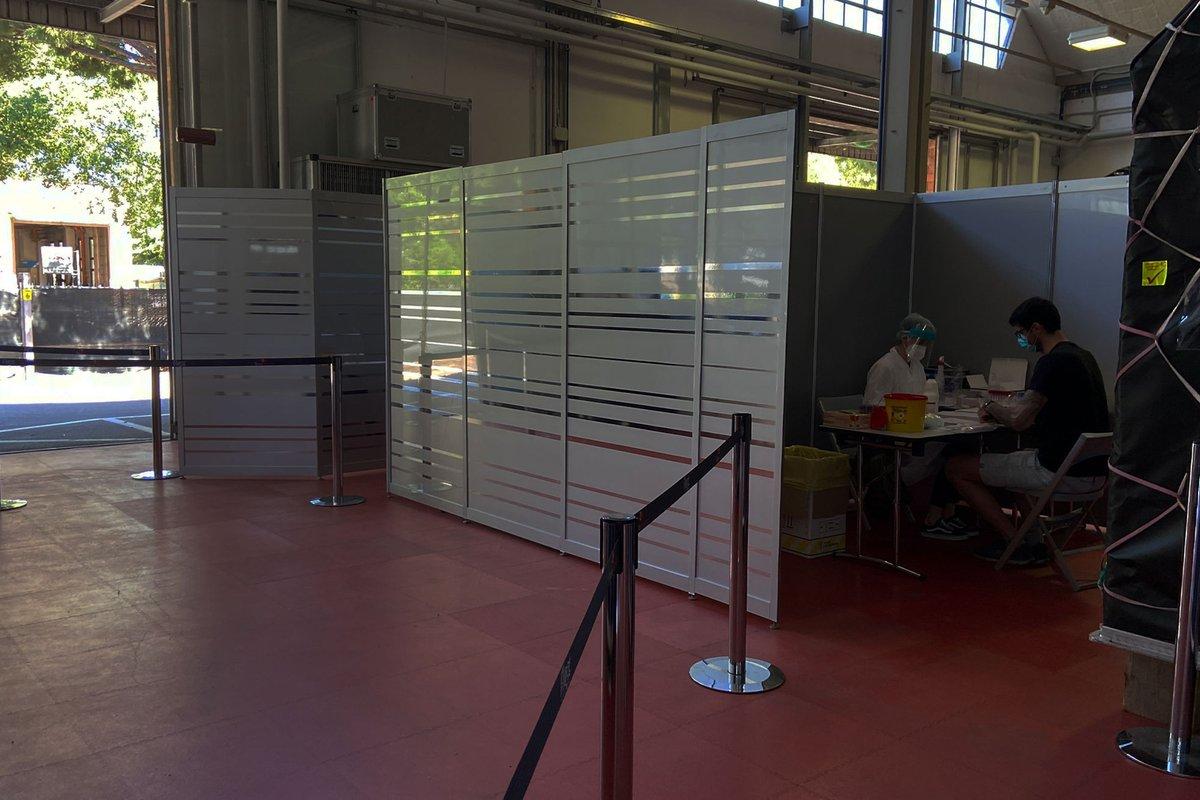 Test de serología en la fábrica de Scuderia Alpha Tauri