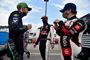 Riley Herbst, Joe Gibbs Racing, Toyota Supra Monster Energy, Brandon Jones, Joe Gibbs Racing, Toyota Supra Toyota Service Centers and Harrison Burton, Joe Gibbs Racing, Toyota Supra Dex Imaging