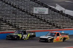 Justin Haley, GMS Racing, Chevrolet Silverado FOE and Codie Rohrbaugh, CR7 Motorsports, Chevrolet Silverado Grant County Mulch