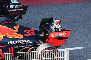 The car of Max Verstappen, Red Bull Racing RB16, in Parc Ferme after Qualifying