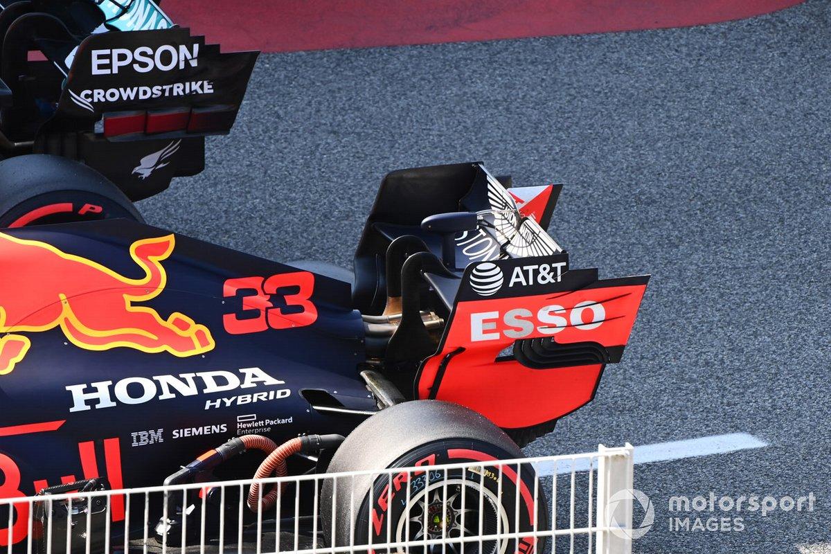 El monoplaza de Max Verstappen, Red Bull Racing RB16, en Parc Ferme