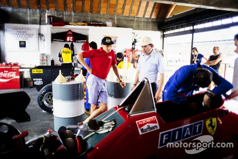 Niki Lauda y Michele Alboreto, Ferrari 126C4