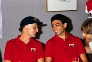Niki Lauda et Michele Alboreto