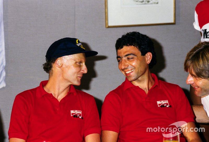 Niki Lauda y Michele Alboreto