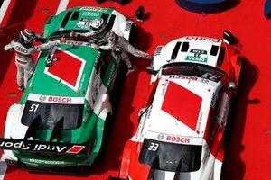 Race winner René Rast, Audi Sport Team Rosberg and Nico Müller, Audi Sport Team Abt Sportsline