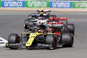 Эстебан Окон, Renault F1 Team R.S.20, Кими Райкконен, Alfa Romeo Racing C39 и Пьер Гасли, AlphaTauri AT01