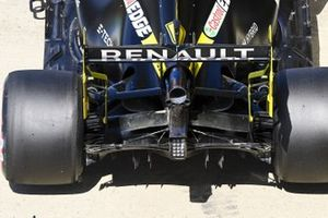 The car of Daniel Ricciardo, Renault F1 Team R.S.20, in Parc Ferme after Qualifying