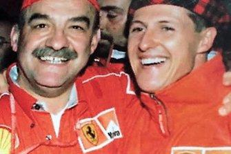 Pino D'Agostino e Michael Schumacher
