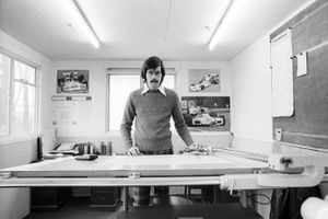 Gordon Murray, Brabham Designer applies his trade at the Brabham MRD headquarters