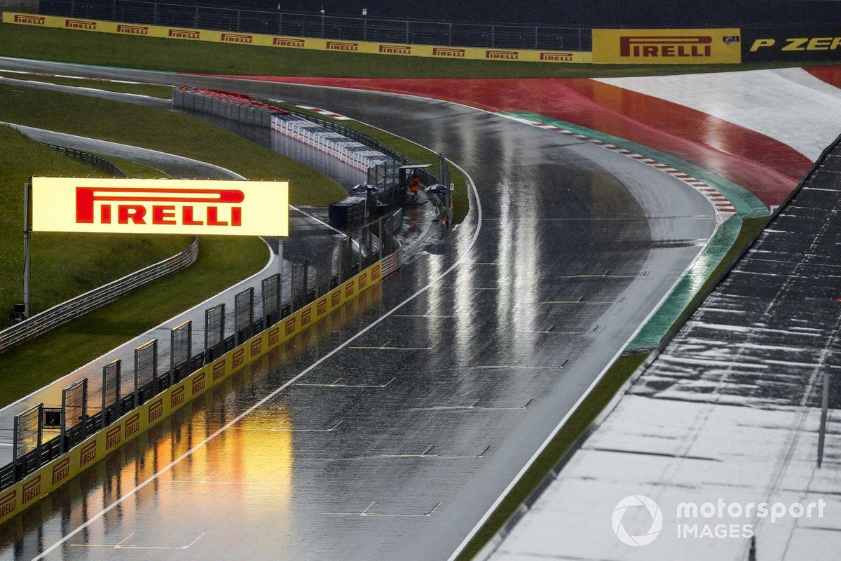 Fuerte lluvia en el Red Bull Ring
