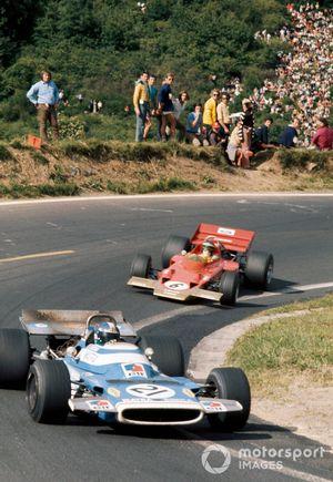 Jean-Pierre Beltoise, Matra MS120 and Jochen Rindt, Lotus 72C Ford