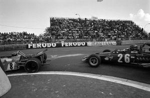 Jean-Pierre Beltoise, Matra MS120 leads Jacky Ickx, Ferrari 312B