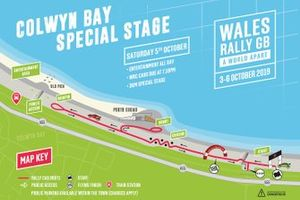 Wales Rally GB special stage: Colwyn Bay