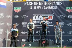 Podium: race winner Thed Björk, Cyan Racing Lynk & Co 03 TCR, second place Yvan Muller, Cyan Racing Lynk & Co 03 TC, third place Mikel Azcona, PWR Racing CUPRA TCR
