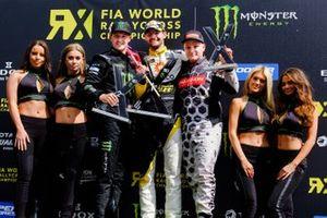 Podio: ganador Timur Timerzyanov, GRX Taneco, segundo lugar Andreas Bakkerud, RX Cartel, tercer lugar Joni Wiman, GRX Taneco