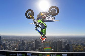 Jack Field completes world's highest backflip today on top of Melbourne's Eureka Tower