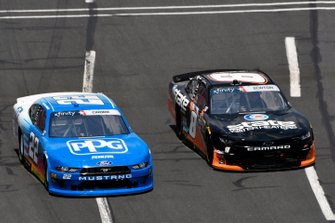 Austin Cindric, Team Penske, Ford Mustang PPG and Jeb Burton, JR Motorsports, Chevrolet Camaro State Water Heaters